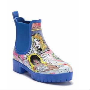JEFFREY CAMPBELL Cloudy Chelsea Rain Boots